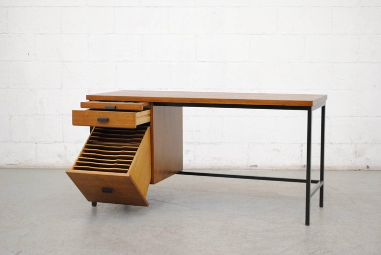 Mid-Century Modern Pierre Paulin Inspired Midcentury Desk For Sale