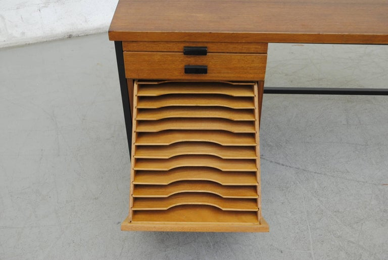 Mid-20th Century Pierre Paulin Inspired Midcentury Desk For Sale