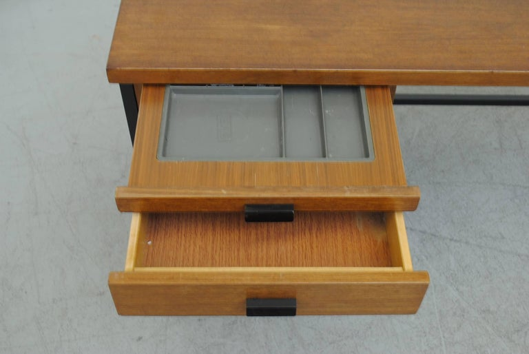 Metal Pierre Paulin Inspired Midcentury Desk For Sale