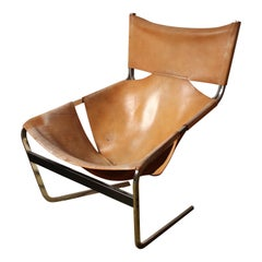 Pierre Paulin, Lounge Chair, Leather, Steel, Artifort, 1963