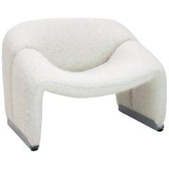 Pierre Paulin Model F598 Groovy Lounge Chair in Pierre Frey, Artifort, 1970s