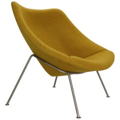 "Pierre Paulin Oyster Lounge Chair, New Upholstery ""F157"" for Artifort, 1960s"