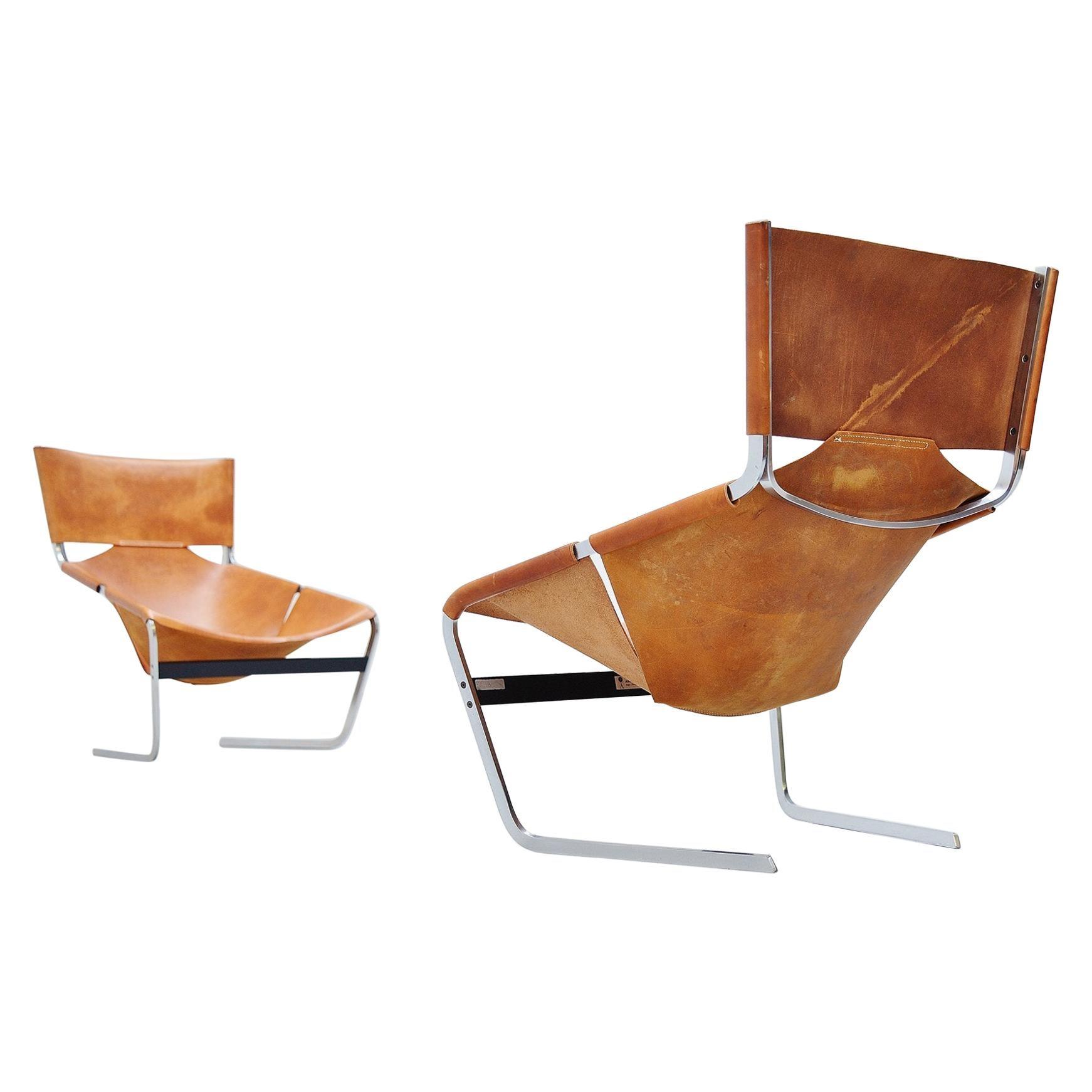 Pierre Paulin Pair of F444 Lounge Chairs Artifort, 1963