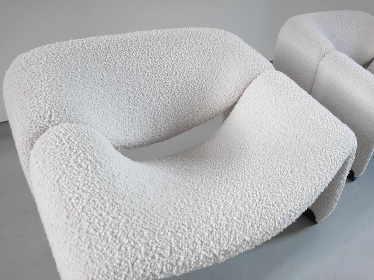 Pierre Paulin Pair of Groovy Chairs in Wool for Artifort, the Netherlands, 1973 4