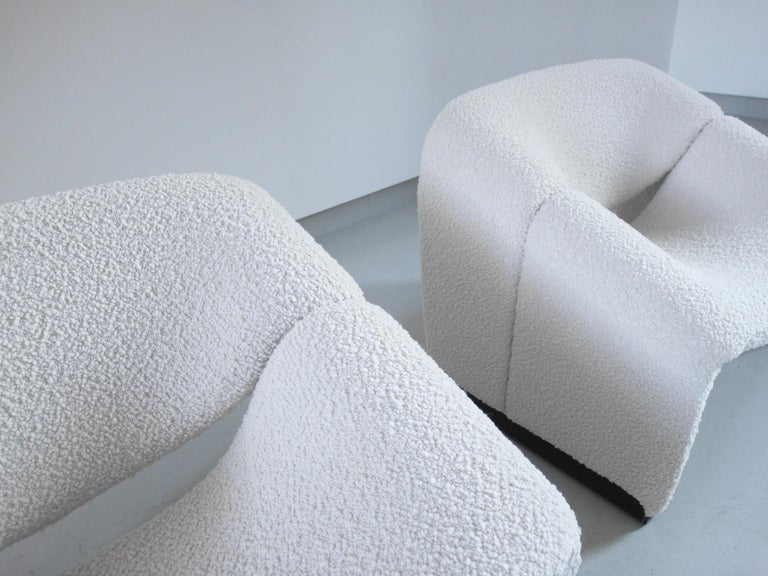 Late 20th Century Pierre Paulin Pair of Groovy Chairs in Wool for Artifort, the Netherlands, 1973