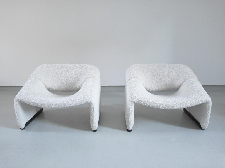 Pierre Paulin Pair of Groovy Chairs in Wool for Artifort, the Netherlands, 1973 1