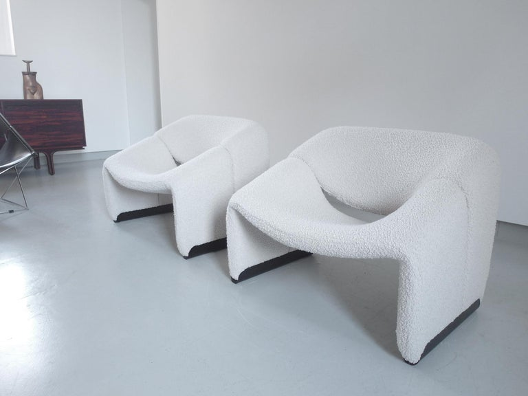 Pierre Paulin Pair of Groovy Chairs in Wool for Artifort, the Netherlands, 1973 2