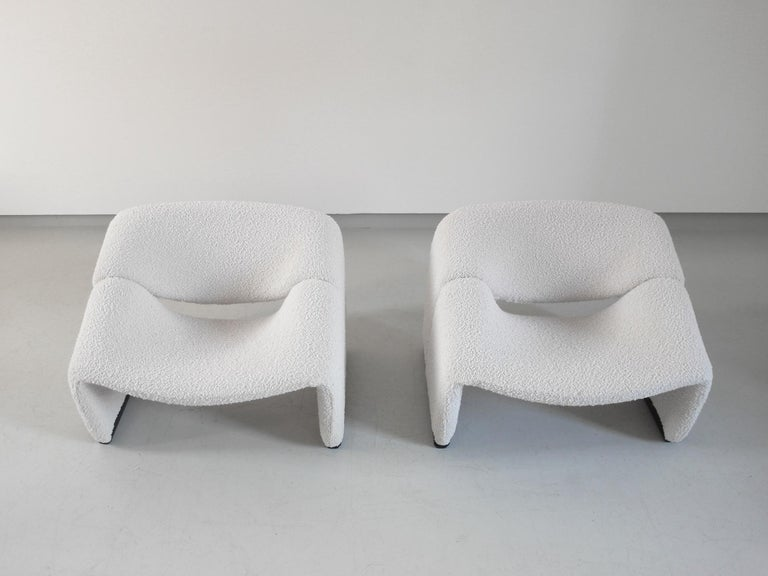 Pierre Paulin Pair of Groovy Chairs in Wool for Artifort, the Netherlands, 1973 3