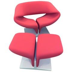 Pierre Paulin Ribbon Chair with ottoman
