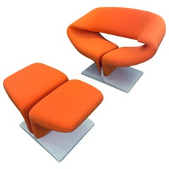 Pierre Paulin Ribbon Chair with ottoman