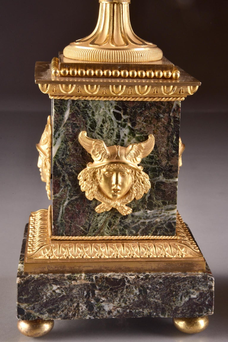 Pierre-Philippe Thomire, a Monumental Three-Piece Clock Garniture For Sale 4