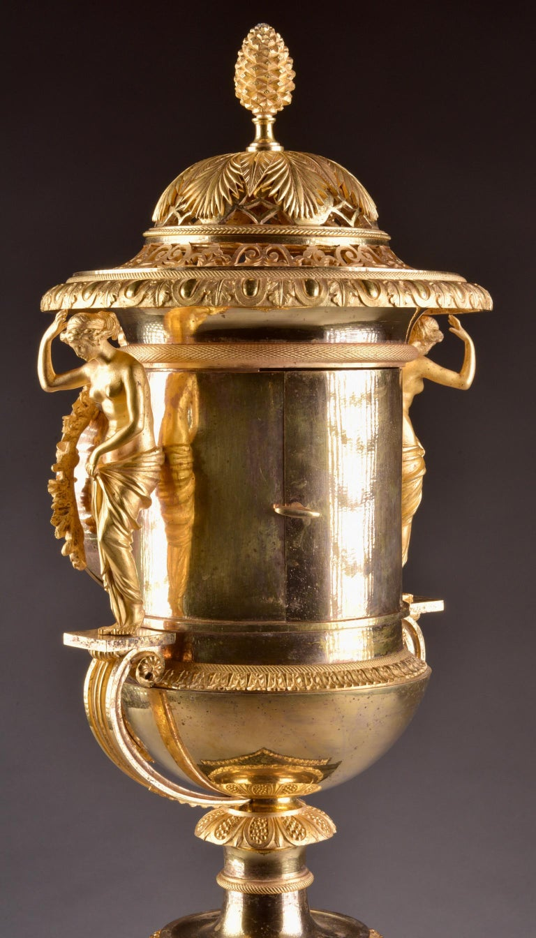 Pierre-Philippe Thomire, a Monumental Three-Piece Clock Garniture For Sale 9
