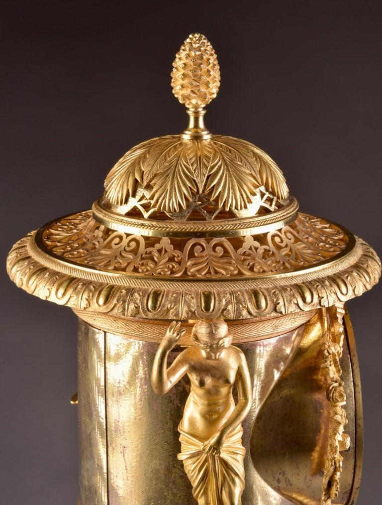 Gilt Pierre-Philippe Thomire, a Monumental Three-Piece Clock Garniture For Sale