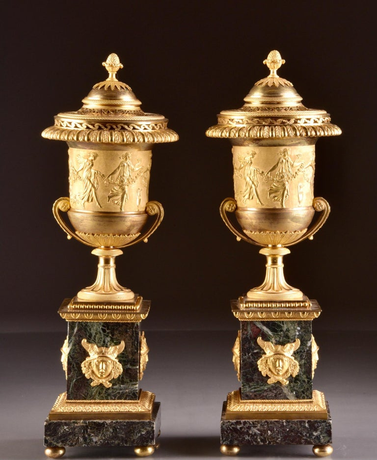 Early 19th Century Pierre-Philippe Thomire, a Monumental Three-Piece Clock Garniture For Sale