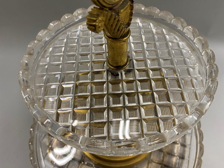 Pierre-Phillipe Thomire French Tiered Crystal and Gilt Bronze Centerpiece For Sale 2