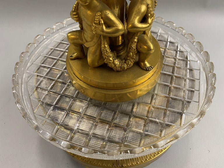 Pierre-Phillipe Thomire French Tiered Crystal and Gilt Bronze Centerpiece For Sale 3