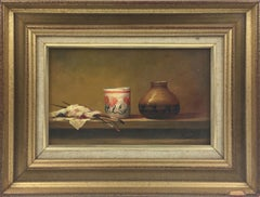 Still Life Study Oil on Wood-Board Painting by Pierre Saez