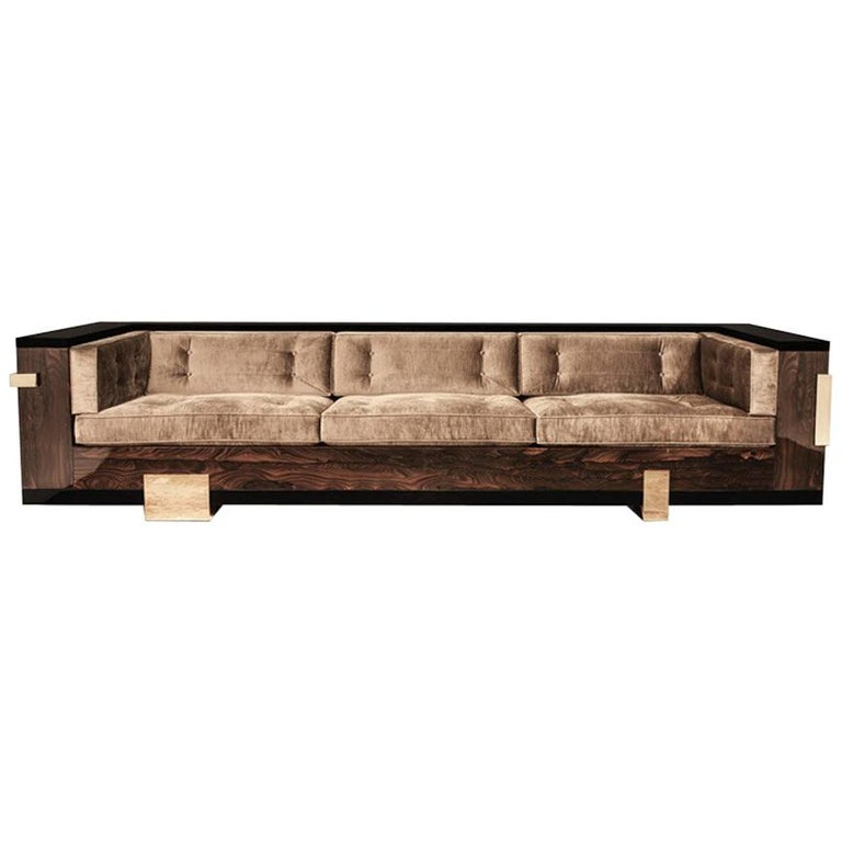 Pierre Sofa 'Bronze, H9, Black Lacquer' by Hudson 1