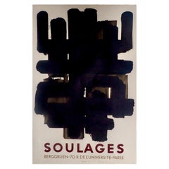"Pierre Soulages ""Berggruen Poster"", 1958"