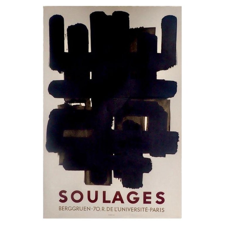 "Pierre Soulages ""Berggruen Poster"", 1958  For Sale"