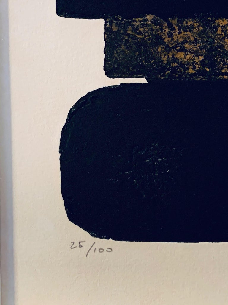 French Pierre Soulages, Eau Forte, 1974 For Sale