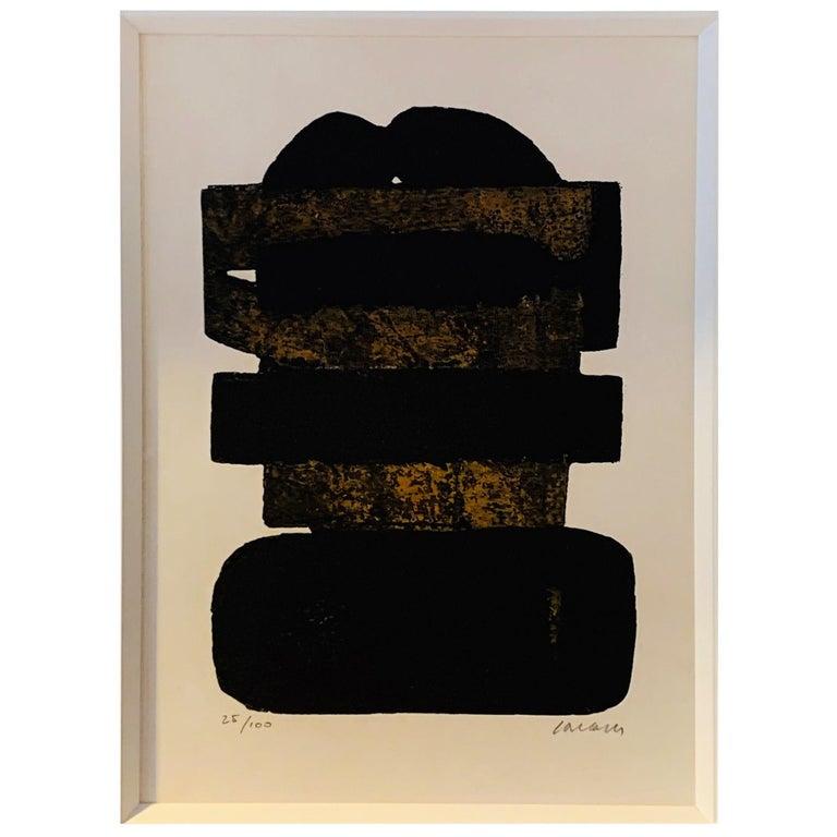 Pierre Soulages, Eau Forte, 1974 For Sale
