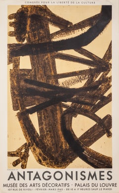 Antagonismes by Pierre Soulages (1960) - lithographic poster