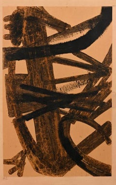Composition en Brune et Jaune (Composition in Brown and Yellow)