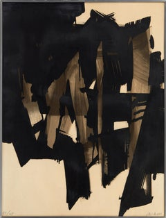 Lithograph n. 15. Limited Edition of 85 by Pierre Soulages 1964 (abstract)
