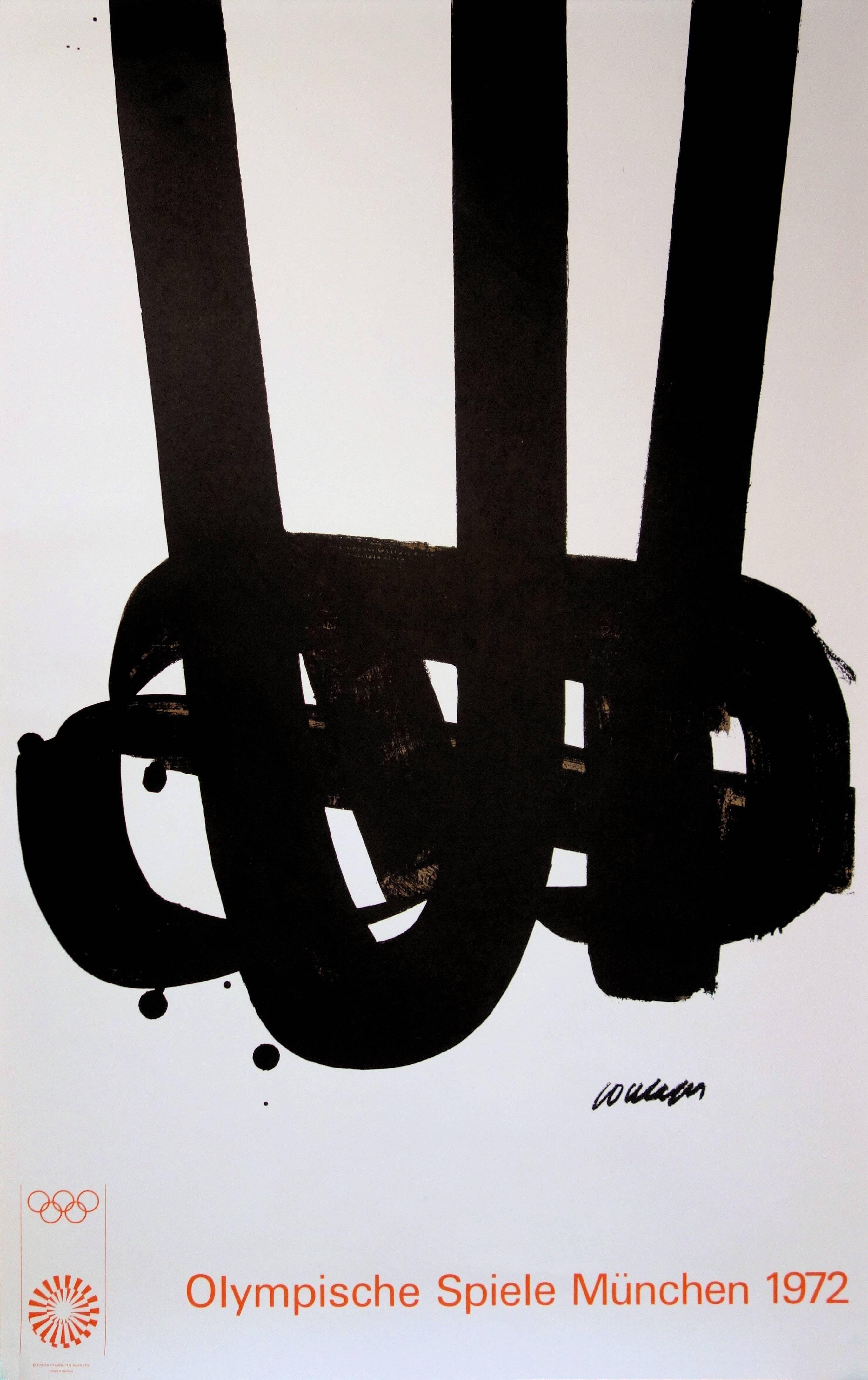 Lithograph n°29 - Original Lithograph (Mourlot - Olympic Games Munich 1972)