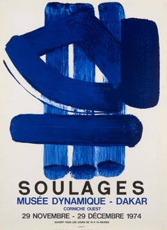 Musee Dynamique-Dakar by Pierre Soulages, 1974 Original Lithographic Poster