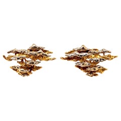 Pierre Sterlé, Paris 18 Karat Gold Clip-On Earrings