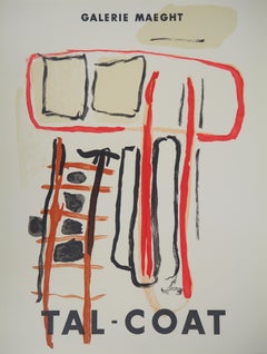 Abstract Composition - Original lithograph poster - Maeght 1956