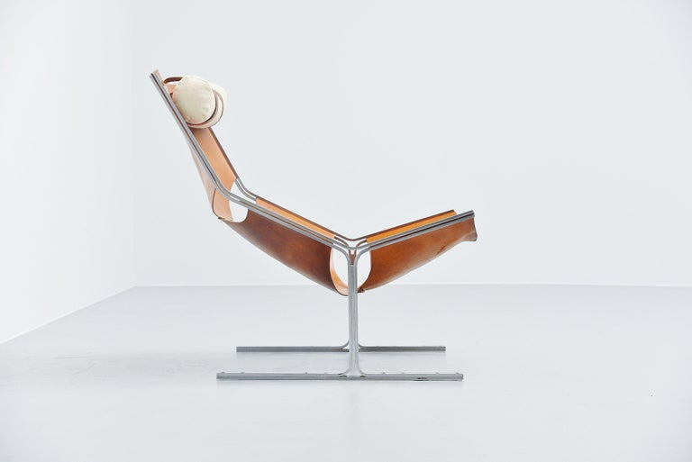 Dutch Pierre Thielen Sling Lounge Chair Metz & Co., Holland, 1960s For Sale