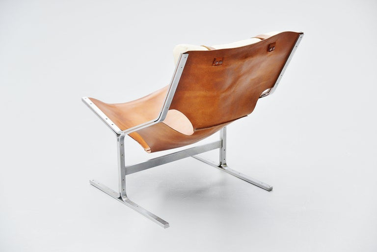 Pierre Thielen Sling Lounge Chair Metz & Co., Holland, 1960s In Good Condition For Sale In Roosendaal, Noord Brabant