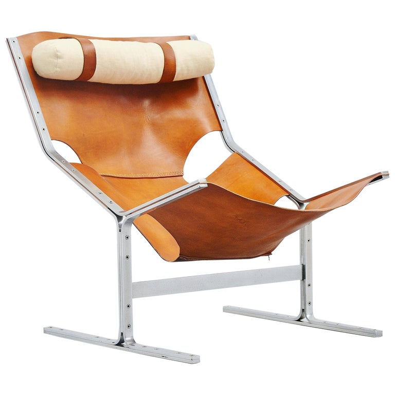Pierre Thielen Sling Lounge Chair Metz & Co., Holland, 1960s For Sale