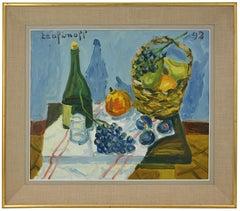 Pierre TROFIMOFF, Still Life with Basket, Oil on Canvas, 1992