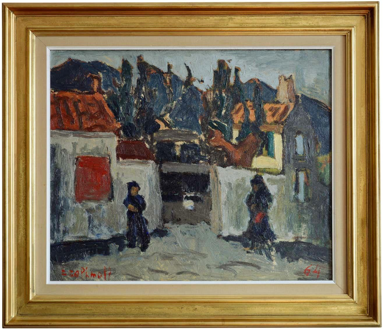 The House Of Mme Pomet, Oil on Canvas
