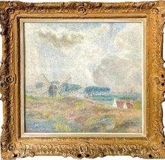 "Impressionist painting ""Paysage au Moulin"" - Landscape Mill"