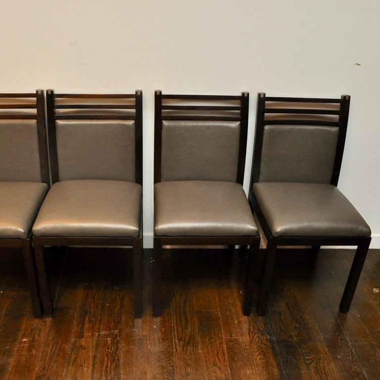 French Pierre Vandel Dining Chairs For Sale