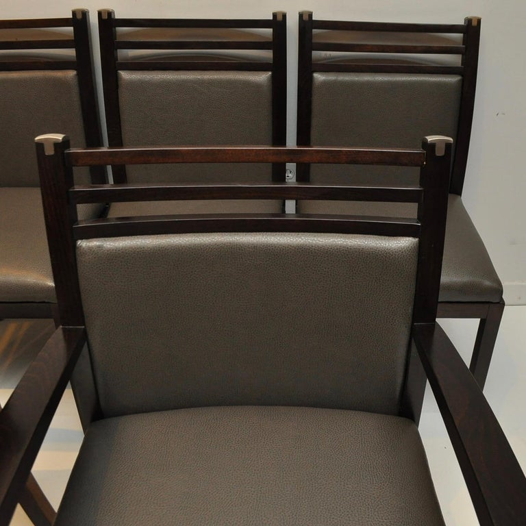 Pierre Vandel Dining Chairs In Good Condition For Sale In Darien, CT