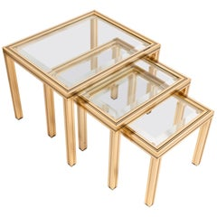 Pierre Vandel Set of Three Nesting Tables, France, circa 1970