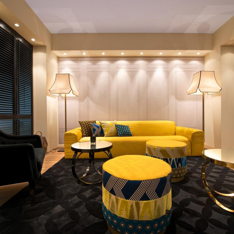 Pierre Yellow Sofa by DOM Edizioni In New Condition For Sale In Milan, IT