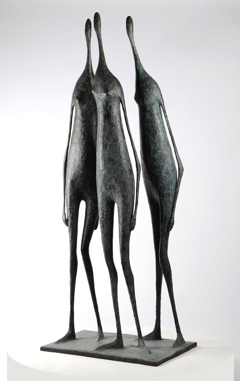 3 Large Standing Figures I - Bronze Group of Three Figures 1