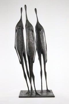 3 Large Standing Figures II by Pierre Yermia - Bronze Group of Three Figures