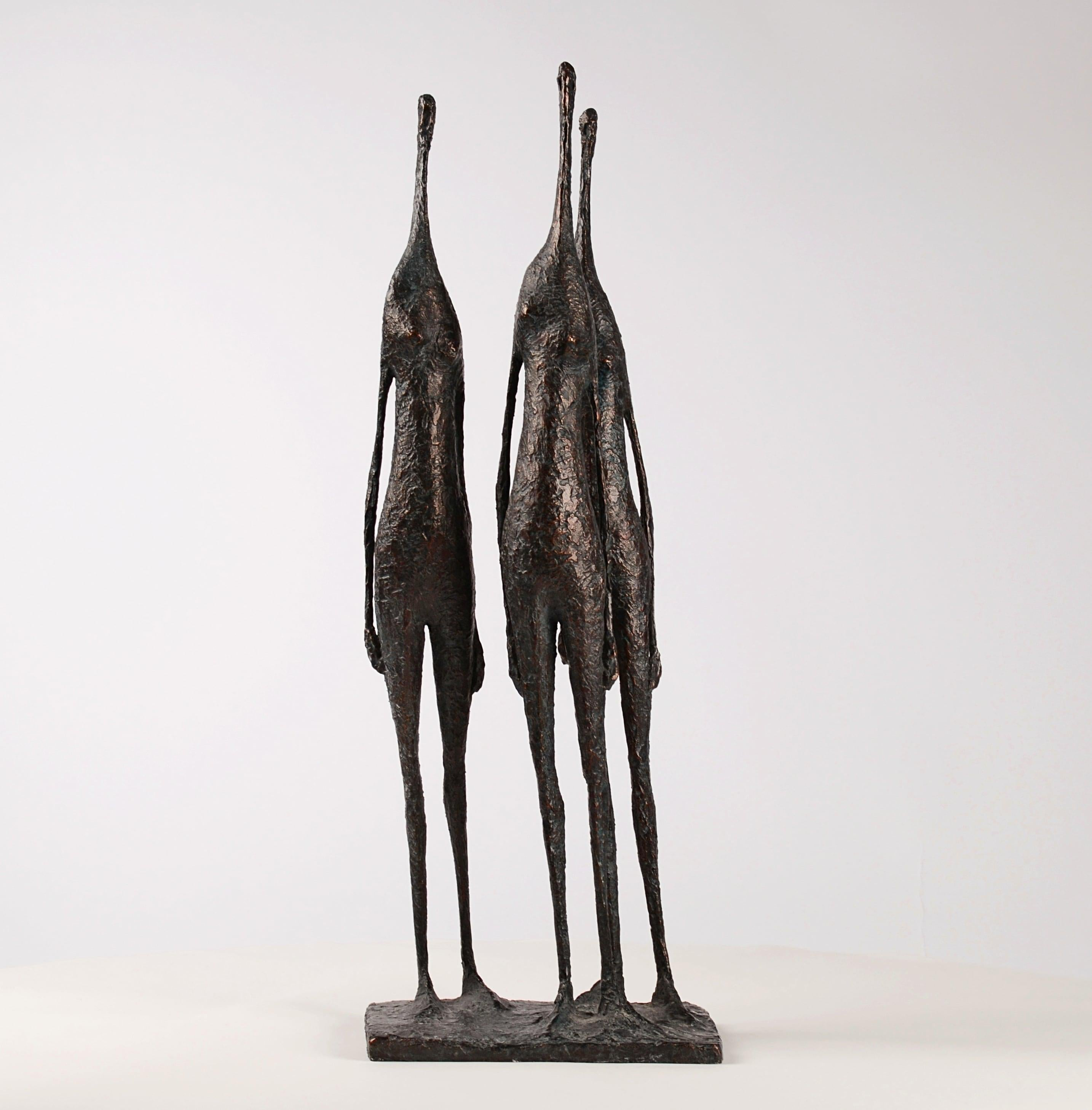3 Standing Figures IV - Bronze Group of Three Figures