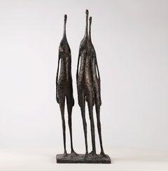3 Standing Figures IV - Bronze Group of Three Figures
