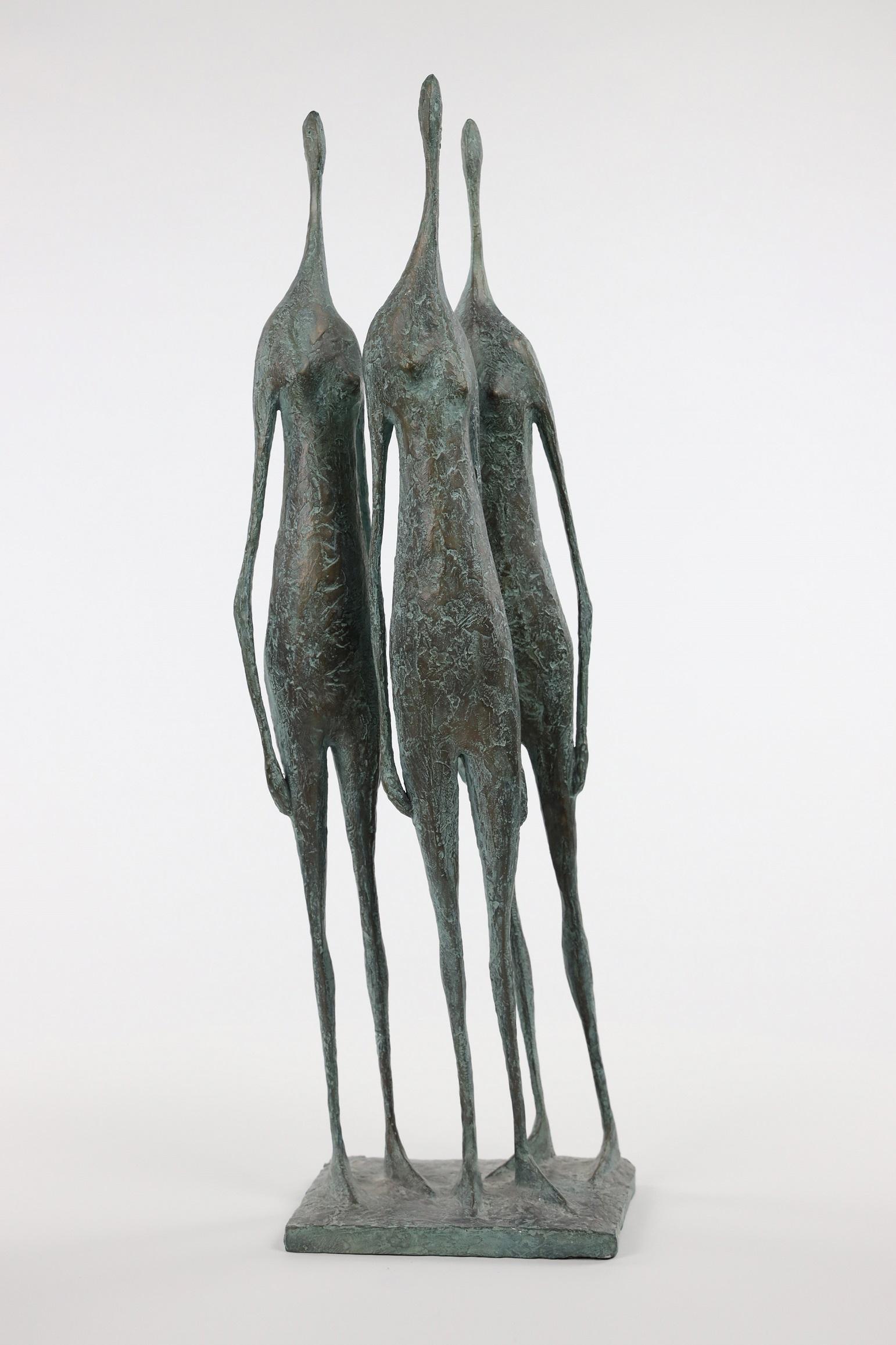 3 Standing Figures V - Bronze Group of Three Figures