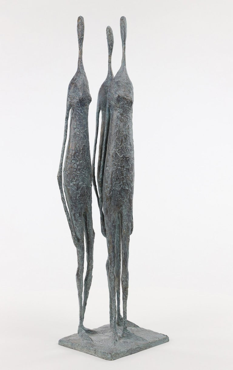 3 Standing Figures VI - Bronze Group of Three Figures - Contemporary Sculpture by Pierre Yermia