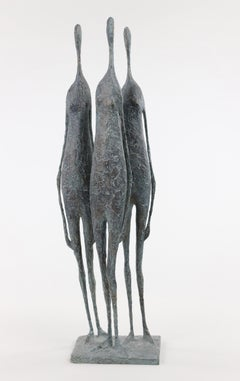 3 Standing Figures VI - Bronze Group of Three Figures